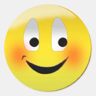 """Blushing Smiley"" stickers"