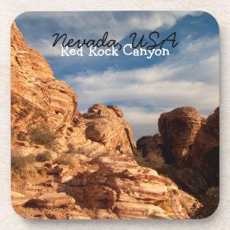 BLUSK Blue Sky Meets Red Rock Drink Coasters