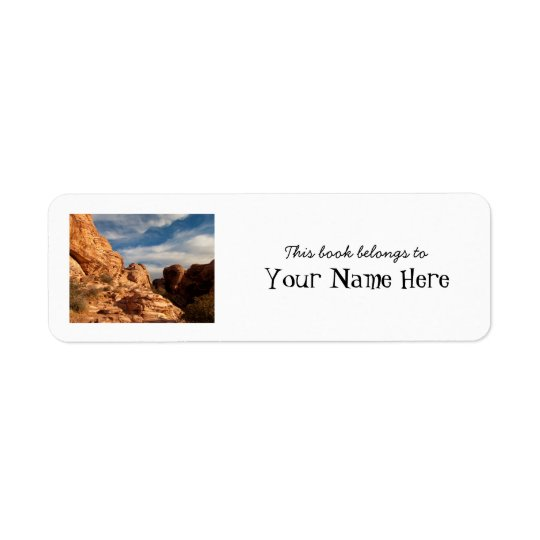BLUSK Blue Sky Meets Red Rock Return Address Label