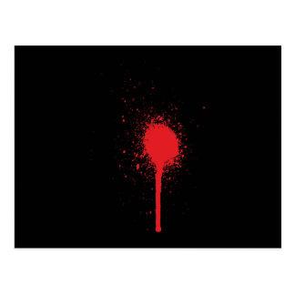 Blutspitzer blood more splatter postcard
