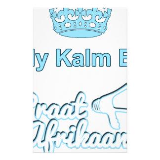 Bly-Kalm-En-Praat-Afrikaans Stationery