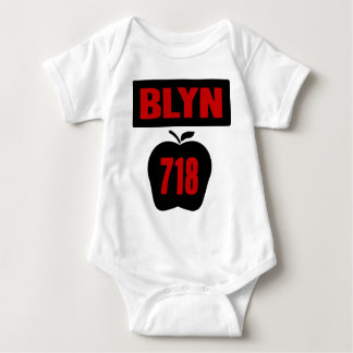 BLYN 718 Inside of Big Apple With Banner, 2 Color Baby Bodysuit