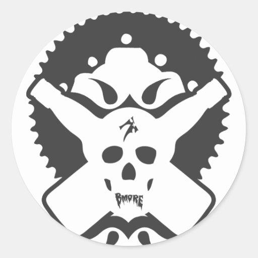 Bmore Skull B Round Sticker