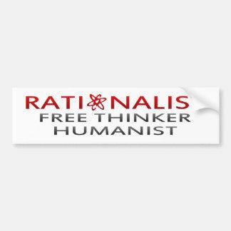 BMP Rationalist, Free Thinker, Humanist Bumper Sticker