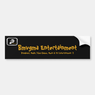 Bmvgma Bumper Sticker with logo and slogan.