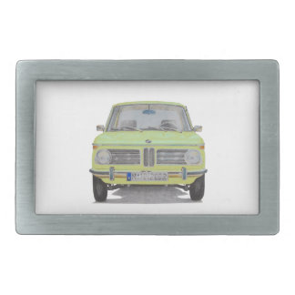 BMW 2002 lime green Belt Buckle