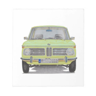 BMW 2002 lime green Notepad
