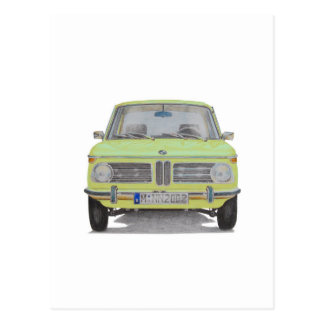 BMW 2002 lime green Postcard