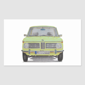 BMW 2002 lime green Sticker