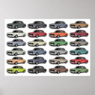 BMW 2002 Multi Car Poster