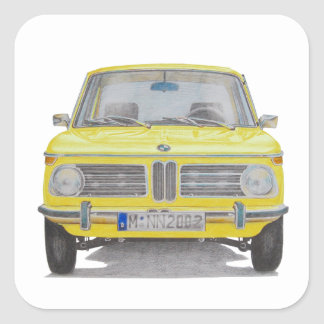 BMW 2002 SQUARE STICKER