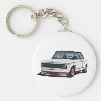 BMW 2002 turbo (E20) DIY white Keychain
