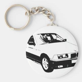 bmw-318 basic round button keychain