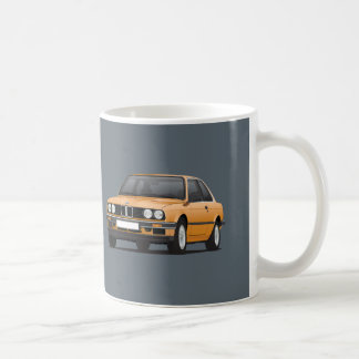 BMW 3 series, E30, orange Coffee Mug