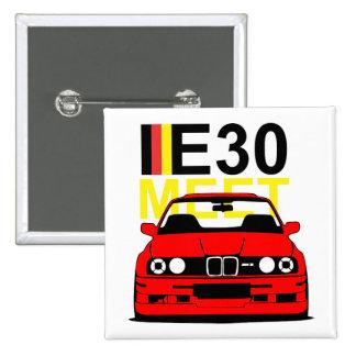 BMW E30 Meet Button Badge