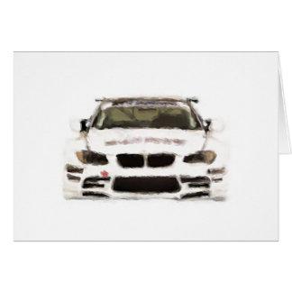 BMW M3 Racing Car Hand Painted Art Brush Template