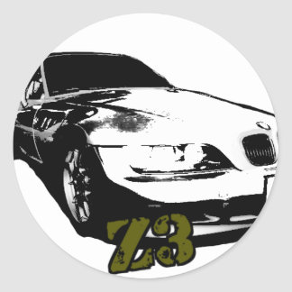 BMW Z3 goods Classic Round Sticker