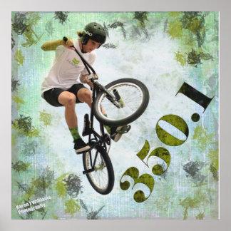 BMX 350.1, Copyright Karen J Williams Poster