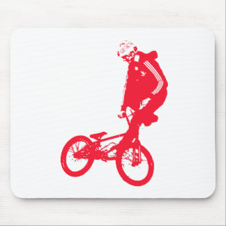 BMX 3 Transparent RED Mouse Pad