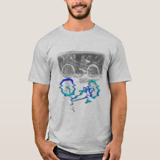 BMX Bike Sport Colored Reflection T-Shirt