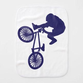 BMX-Biker Baby Burp Cloths