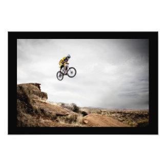 BMX Biker Jumping Poster Photo Print
