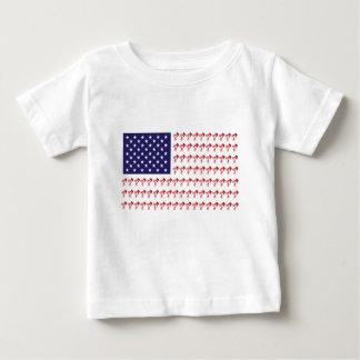 BMX Biker Patriotic Flag Baby T-Shirt