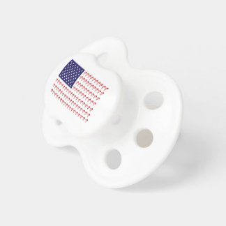BMX Biker Patriotic Flag Pacifier