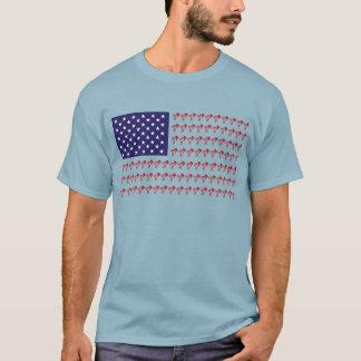 BMX Biker Patriotic Flag T-Shirt