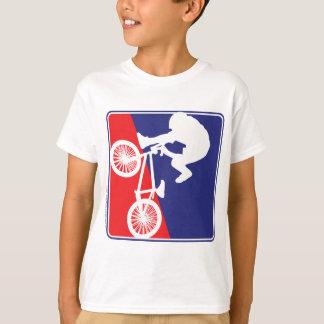 BMX Biker Red White and Blue T-Shirt