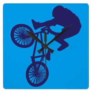 BMX-Biker Square Wall Clock