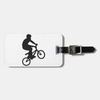 BMX Biker trick jump Luggage Tag