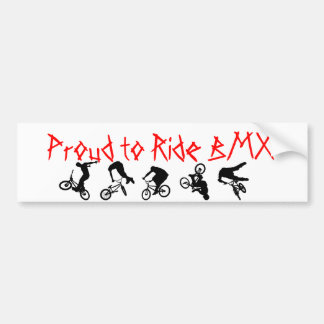 BMX Bumper Sticker Proud to Ride BMX