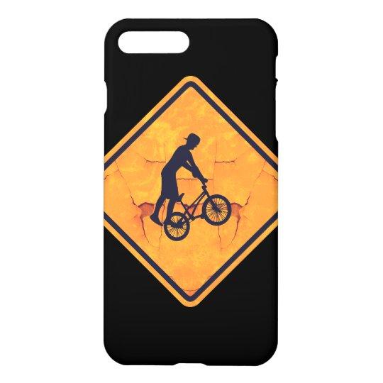 BMX caution sign iPhone 7 Plus Case