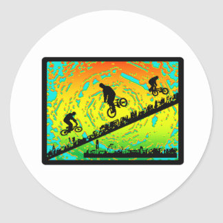 BMX City Classic Round Sticker