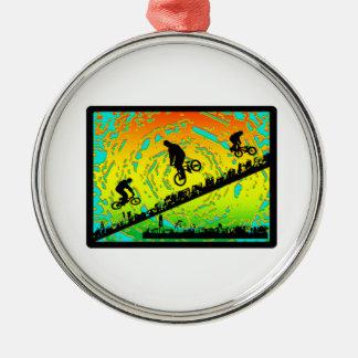 BMX City Metal Ornament