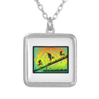 BMX City Silver Plated Necklace
