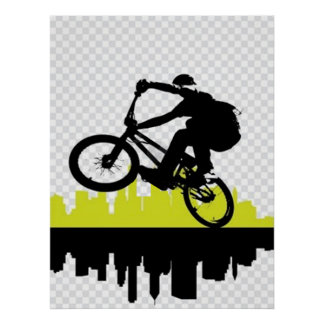 BMX Cyclist Poster