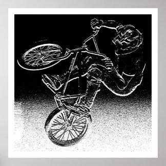 BMX distortion, Copyright Karen J WilliamsBMX Poster