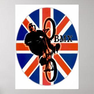 BMX England style 2, Copyright Karen J Williams Poster