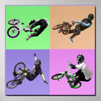 BMX Extreme Pop Art, Copyright Karen J Williams Poster
