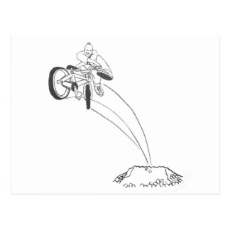BMX freestyle dirt jumper x up tailwhip drawing Post Cards