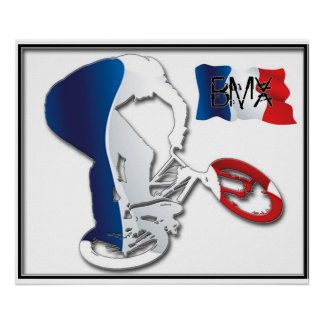 BMX French style 3, Copyright Karen J Williams Poster
