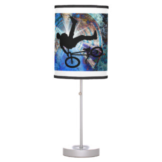 BMX  in a Grunge Tunnel on ANY COLOR BACKGROUND Table Lamp
