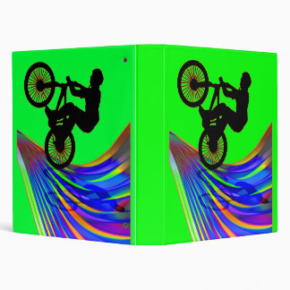BMX on a Rainbow Road 3 Ring Binders