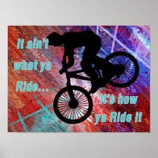 BMX on Rusty Grunge Risk How Ya Ride It Poster