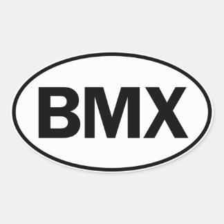 BMX Oval ID Oval Sticker
