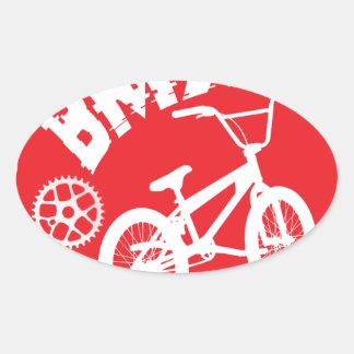 BMX OVAL STICKER