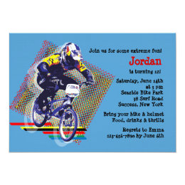 BMX Racing Invitation