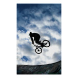 BMX rider at Devonshire Green, Sheffield Poster